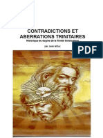 Contradictions et Aberrations Trinitaires