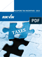 Singapore Tax Incentives 2013