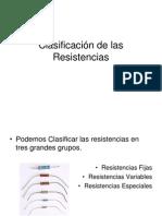 Clasificación de las Resistencias