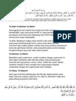 Doa Majlis Penyampaian Hadiah 2012
