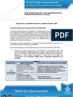 Actividad de Aprendizaje unidad 3 Requisitos e Interpretación de la Norma ISO 90012008