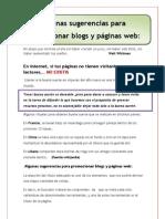 Algunas Sugerencias Para Promocionar Blogs