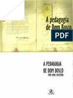 A Pedagogia de Dom Bosco