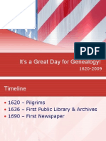 Timeline of Genealogy - 1620 - 2009 - the tools