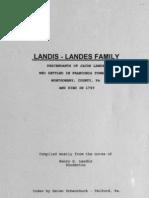 Landis Landes Family