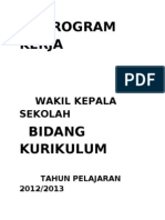Program Kerja Wk. Kurikulum 2012-2013