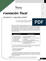 Planeación fiscal. Simulación o seguridad jurídica
