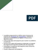 Diapositivas de Programacion Unidad 1