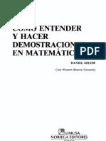 Cómo Entender y Hacer Demostraciones en Matematicas - D. Solow