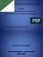 Antropología e Investigación Pedagógica