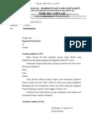 Pemecatan Contoh Surat Pemberhentian Pekerja