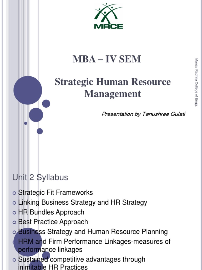 gb520 strategic hr management unit 6