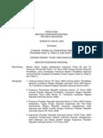 Standar Pendidik dan Tenaga Kependidikan (permendiknas Nomor 44 Tahun 2009)