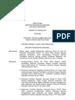Standar Pendidik dan Tenaga Kependidikan (permen no 45 tahun 2009)