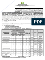 Edital n.º 001 - Técnico Subsequente