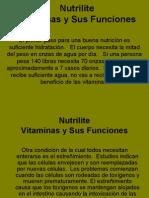Las Vitaminas Nutrilite y Sus Funciones