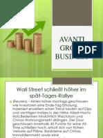 avanti group business, WALL STREET SCHLIEßT HÖHER IM SPÄT-TAGES-RALLYE