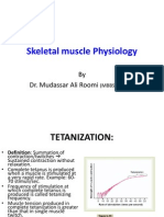 3rd Lecture on Skeletal Muscle Physiology by Dr.roomi