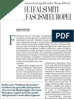 Furio Jesi e i Falsi Miti Dei Fascismi Europei - La Repubblica 07.03.2013