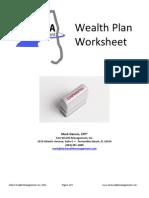 Wealth Plan Worksheet RTQ