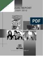 Mtnl Annual Report 2009-10