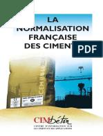 La normalisation française des ciments - CT-G56 - CIM BETON