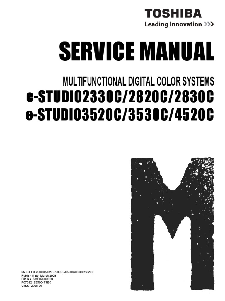 Toshiba e-studio 2830c manuals.
