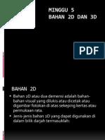 BAHAN 2D DAN 3D TP