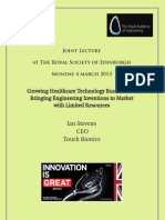 Growing Healthcare Technology Businesses – Bringing Engineering Inventions to Market with Limited Resources