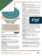 45C0Dd01 Mediterranean Surf Doily