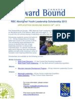 RBC Youth Scholarship Information Flyer