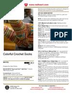 1CAC4d01 Colorful Crochet Socks Crochet Pattern