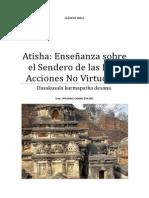 Atisha Enseñanza sobre las Diez Acciones no Virtuososas.