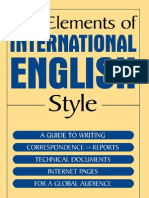 The Elements of International English Style - Manteshwer