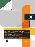 Mejora del rendiMiento del transporte en los ejes ferroviarios transeuropeos