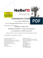 NoBel 2013 Comunicato Stampa