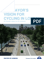 London Mayor Boris Johnson announces £913m cycling plan