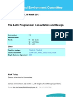 Leith Programme Consultation and Design