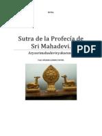 Sutra de la Profecía de Sri Mahadevi