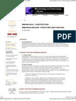 IMMUNOGLOBULINS - STRUCTURE AND FUNCTION