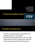 Communication Case Study