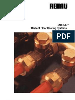 Rehau Tech Manual   Flooring   Thermostat   Rehau Underfloor Heating Wiring Diagram      Scribd