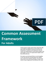 Common Assessment Framework for Adults
