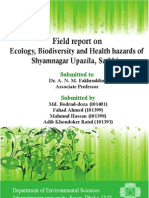 Field report on Ecology, Biodiversity and Health hazards of Shyamnagar Upazila, Satkhira