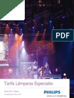 Tarifa Philips Lamparas Especiales Mayo 2012
