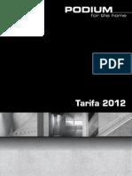 Tarifa Podium Marzo 2012