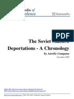 The Soviet Massive Deportations a Chronology