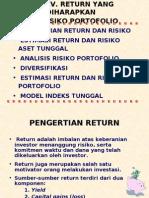4.Return Dan Resiko Portofolio