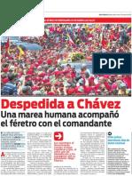 Venezuela de luto por la muerte de Hugo Chávez