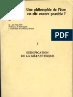 MD Philippe Philosophie de l'Etre